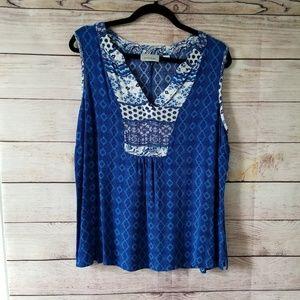 Avenue blue women's top size 14/16